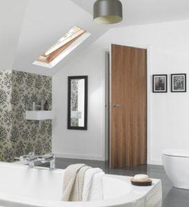 двери в ванную Шпон