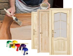 Как правильно покрасить двери из массива сосны