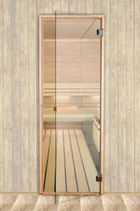 Стеклянные банные двери направляющие