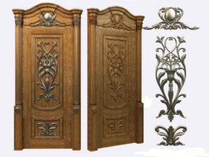Накладные элементы на деревянные двери