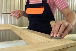 тапы изготовления дверей из дерева